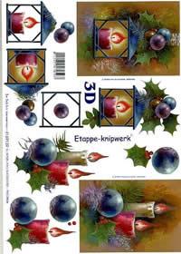 3D Bogen Weihnachtslaterne - Format A4