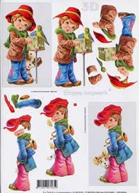 3D Bogen Strassenkind (1) - Format A4