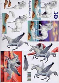 3D Bogen Einhorn - Format A4
