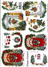 3D Bogen Weihnachtstüren - Format A4