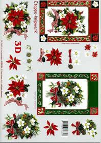 3D Bogen Weihnachts - Strauß - Format A4