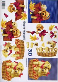 3D Bogen Hündchen - Format A4