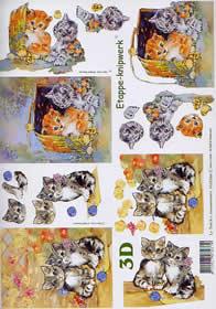 3D Bogen Kätzchen - Format A4