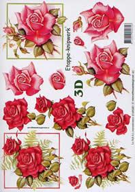 3D Bogen Rosen - Format A4