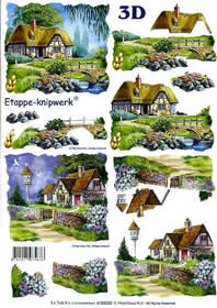 3D Bogen Landhaus - Format A4