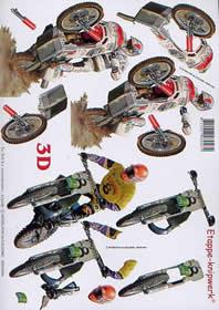 3D Bogen Moto-cross - Format A4