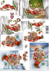 3D Bogen Weinachtsmann - Format A4
