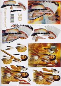 3D Bogen Indianer - Format A4