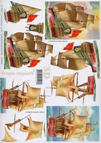 3D Bogen Segelschiffe - Format A4