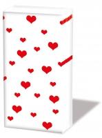 Taschentücher - Viele Herzen rot