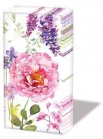 Taschentücher Pink Roses White