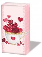 Taschentücher Cup of Hearts