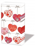 Taschentücher - Herzen auf Draht
