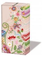 Taschentücher - Stickerei Blumenrose