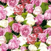 Servietten 25x25 cm - Rosen überall
