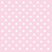Servietten 25x25 cm - Pastellpunkte Rose