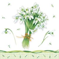 Servietten 25x25 cm - Bunch Of Snowdrops