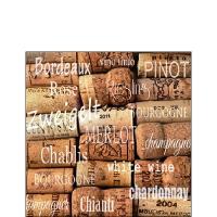Servietten 25x25 cm - Wine Corks