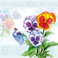 Cocktail Servietten Aquarell Pansy