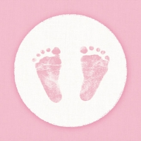 Servietten 25x25 cm - Baby Steps Girl
