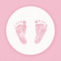 Servietten 25x25 cm - Babyschritte Mädchen