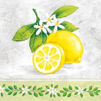 Cocktail Servietten Lemon Branche