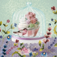 Cocktail Servietten Cupcake In Glass Bell