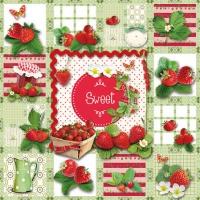 Cocktail Servietten Sweet Strawberries