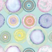 Servietten 25x25 cm - Aquarell Kreise