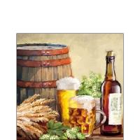 Servietten 25x25 cm - Beer And Hops