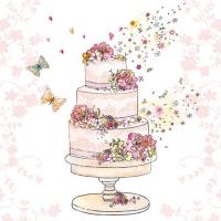 Cocktail Servietten Flowered Wedding Cake