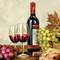 Servietten 25x25 cm - Wine & Grapes
