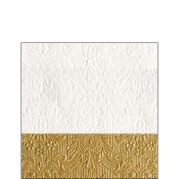Servietten 25x25 cm - Elegance Dip Gold