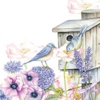 Servietten 25x25 cm - Birdhouse Backyard