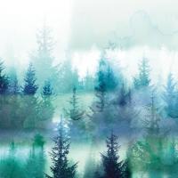 Servietten 25x25 cm - Forest Fog
