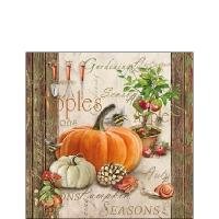 Servietten 25x25 cm - Herbstliche Gartenarbeit