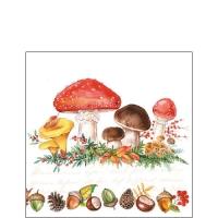 Cocktail Servietten Mushrooms