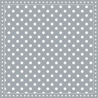 Servietten 25x25 cm - Streifen Punkte Grau
