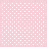 Servietten 25x25 cm - Streifen Punkte Rosa