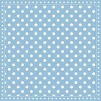 Servietten 25x25 cm - Streifen Punkte Hellblau
