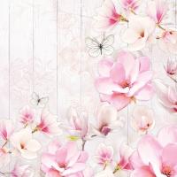 Servietten 25x25 cm - Magnolien-Garten