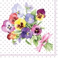 Servietten 25x25 cm - Bunch of Violets Berry