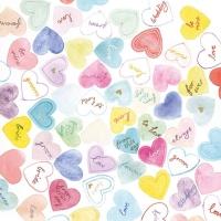 Servietten 25x25 cm - Süße Herzen