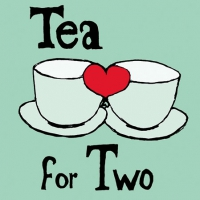 Servietten 25x25 cm - Tea for Two Mint