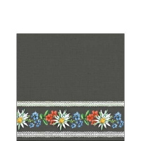 Servietten 25x25 cm - Bavarian Flowers Grey