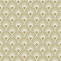 Servietten 25x25 cm - Art Deco Gold White