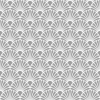 Servietten 25x25 cm - Art Deco Silver/White