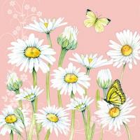 Servietten 25x25 cm - Daisy Coral