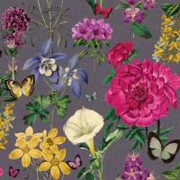 Servietten 25x25 cm - Botanical Florals Grey