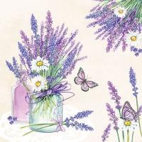 Servietten 25x25 cm - Lavender Jar Cream